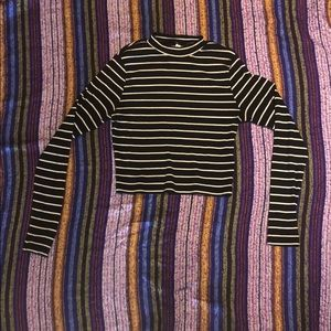 H&M Divided striped crop top